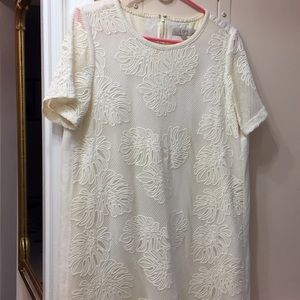 Loft Fully Lined Embroidered Dress